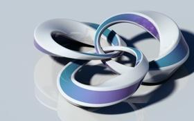 Обои кольца, рендер