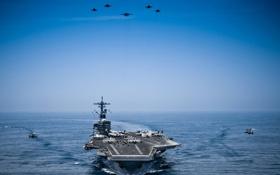 Обои море, оружие, USS George H.W. Bush