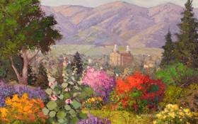 Обои арт, Sean Wallis, Floral Temple