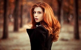 Картинка Girl, Red, Street, Beauty, Hair, Portait, Lods Franck