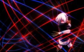 Картинка izayoi sakuya, ножи, девушка, touhou, линии, арт, tan
