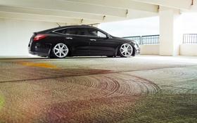Картинка тюнинг, черная, Хонда, Honda, black, vossen, Кросстур