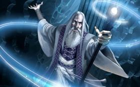Картинка магия, властелин колец, арт, старик, посох, колдун, the lord of the rings