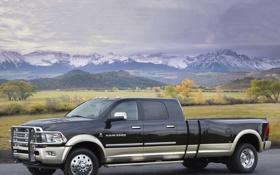 Обои пейзаж, ram, красивый вид, long-hauler, огромный размер, 5500, пикап
