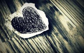 Обои макро, бумага, фото, стол, настроение, обои, сердце