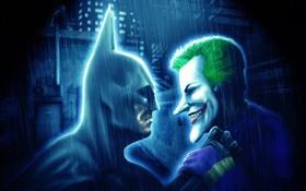 Обои batman: arkham city, batman, dc comics, joker