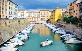 Картинка город, лодка, лодки, Европа, канал, Europe, Boats