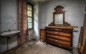 Обои комната, раковина, окно