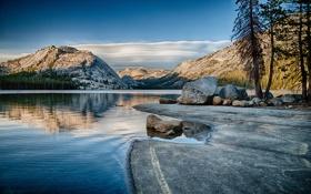 Картинка горы, озеро, США, Yosemite, национальный парк, Tenaya Lake