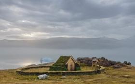 Картинка дом, забор, гренландия