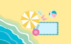 Обои песок, лето, вода, настроение, берег, пляжи