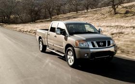 Картинка внедорожник, Nissan, пикап, offroad, titan