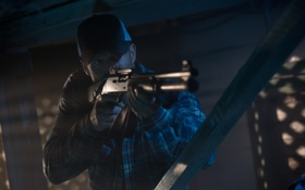 Обои оружие, кепка, дробовик, Homefront, Jason Statham, Джейсон Стэйтем, Последний рубеж