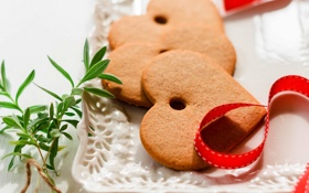 Обои любовь, праздник, сердце, еда, печенье, love, десерт