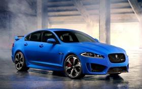 Обои Автомобиль, Ягуар, 2013, Jaguar, Обоя, Передок, Blue