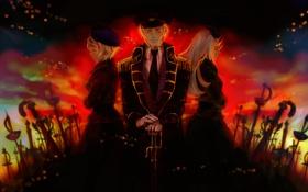 Обои тьма, кровь, сабля, Hetalia, хеталия
