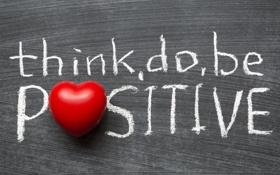 Картинка сердце, red, black, heart, think, positive