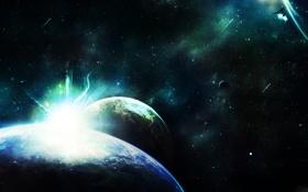 Картинка звезды, планеты, Свет