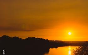 Картинка солнце, закат, природа, GK media, Grigory Karaman, Калуга, Kaluga