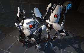 Картинка роботы, портал, portal