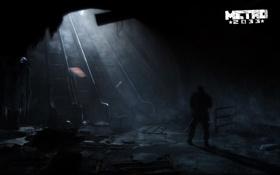 Обои эскалаторы, Metro 2033, метро, подземка, человек, руины, мрачно