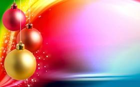 Обои шарики, украшения, снежинки, праздник, обои, игрушки, рождество