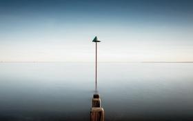 Картинка пейзаж, озеро, опоры