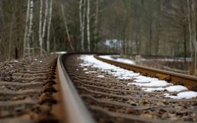 Картинка макро, рельсы, железная дорога