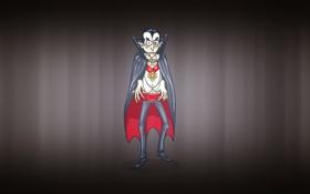 Обои минимализм, клыки, вампир, плащ, дракула, vampire, носферату