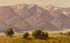 Обои арт, Sean Wallis, The Wellsville Mountains