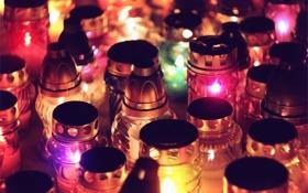 Обои фонарики, разноцветные, velas