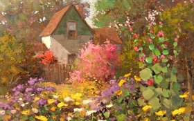 Обои арт, Sean Wallis, Home Among The Garden