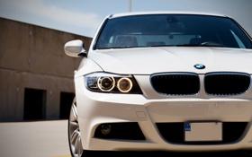Картинка бмв, white, cars, auto, wallpapers, bmw m3, обои авто