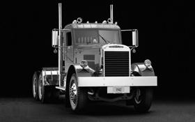Картинка фон, грузовик, полумрак, передок, track, тягач, Freightliner