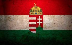 Обои флаг, герб, Венгрия