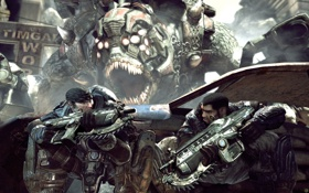 Картинка оружие, игра, gears of war, marcus fenix