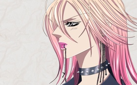 Картинка девушка, крест, шипы, розовые волосы, Mogami, Skip Beat, Kyoko