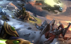 Картинка starcraft, diablo, warcraft, Demon Hunter, Zeratul, Thrall, Heroes of the Storm