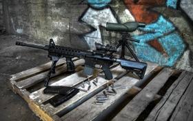 Картинка оружие, патроны, винтовка, штурмовая, поддон