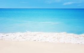 Обои песок, море, камни