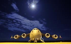 Обои аэродром, самолёт, авиация