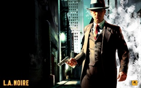 Обои Пистолет, Лос-Анджелес, Rockstar Games, LA Noire