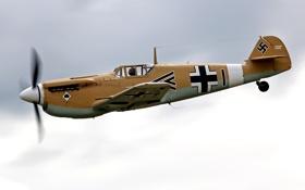 Обои небо, истребитель, немецкий, поршневой, одномоторный, Мессершмитт, WW2