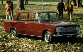 Картинка парк, фон, передок, 1966, Fiat, Фиат, 124