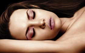 Картинка hot, sexy, eyes, brown, beauty, lips, face