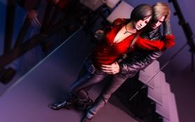 Картинка Ada Wong, Leon Scott Kennedy, Resident evil 6, Biohazard 6, fanart