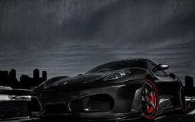 Обои черный, Ferrari, Scuderia