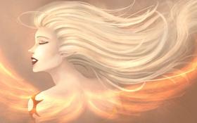 Картинка волосы, арт, девушка, Janna, league of legends