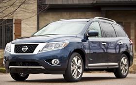 Картинка авто, внедорожник, Nissan, Hybrid, передок, Pathfinder