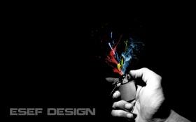 Обои брызги, зажигалка, краска, эсэф дизайн, цвет, минимализм